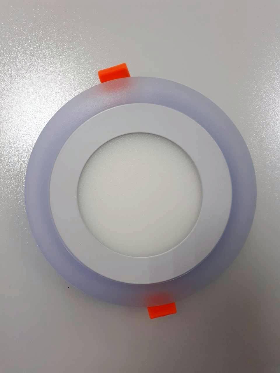 LED панель Lemanso 6+3W  с синей посведкой 4500K круг / LM496