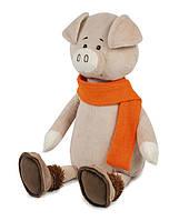 Мягкая игрушка Maxi Toys Свин Барри в шарфике 28 см (MT-MRT031811-28)