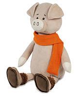 Мягкая игрушка Maxi Toys Свин Барри в шарфике 33 см (MT-MRT031811-33S)