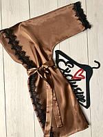Женская одежда для дома,  халат с кружевом.