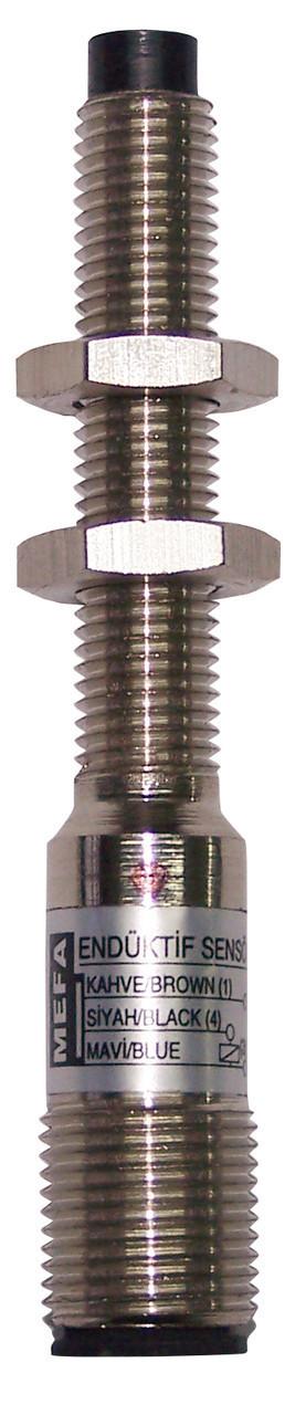 Индуктивный датчик, металлический, 3-х проводный, размер корпуса M8x1