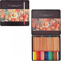 Набор профессиональных цветных карандашей, 36 шт., в металлическом пенале, Marco Renoir (6951572911987)