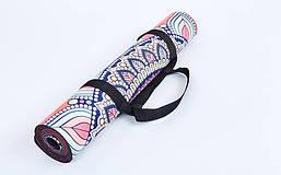 Коврик для йоги Замшевый каучуковый двухслойный 3мм Record FI-5662-14, фото 3