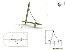 Ігровий елемент дитячого майданчика White Rhino Sail, фото 2
