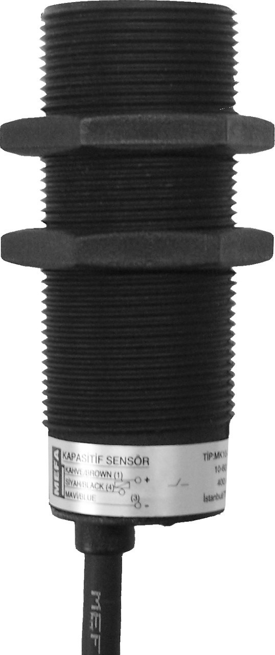 Индуктивный датчик, пластиковый, 3/4-х проводная схема с размером корпуса M18x1