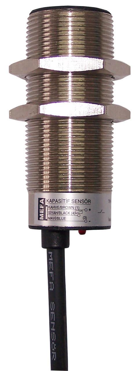 Индуктивный датчик для больших расстояний, металлический, 3/4-х проводная схема с размером корпуса M18x1