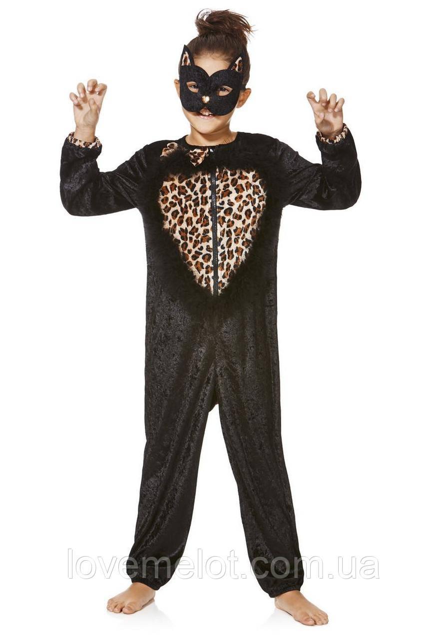 """Детский карнавальный новогодний праздничный велюровый костюм """"Кошечка"""" для девочки, размер 5-6 лет(116 см)"""