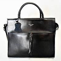 Элегантная женская сумочка CELINE кожа черного цвета KСS-777580, фото 1