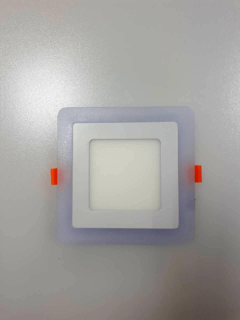 LED панель Lemanso 6+3W  с синей подсветкой 4500K квадрат / LM500