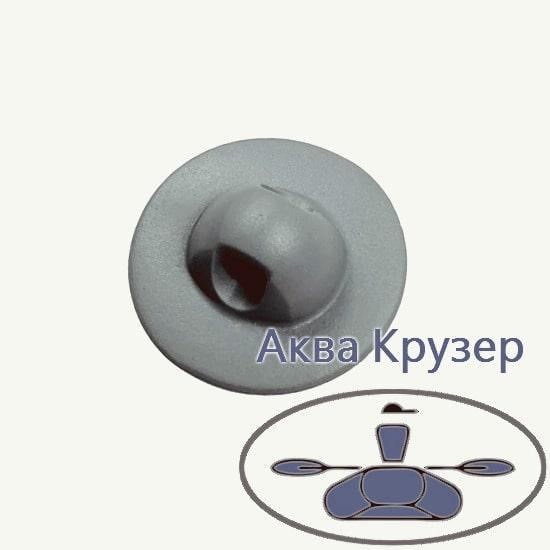 Тримач леєри (шайба) малий, основа ø 50 мм, колір сірий, для надувних човнів ПВХ, байдарок