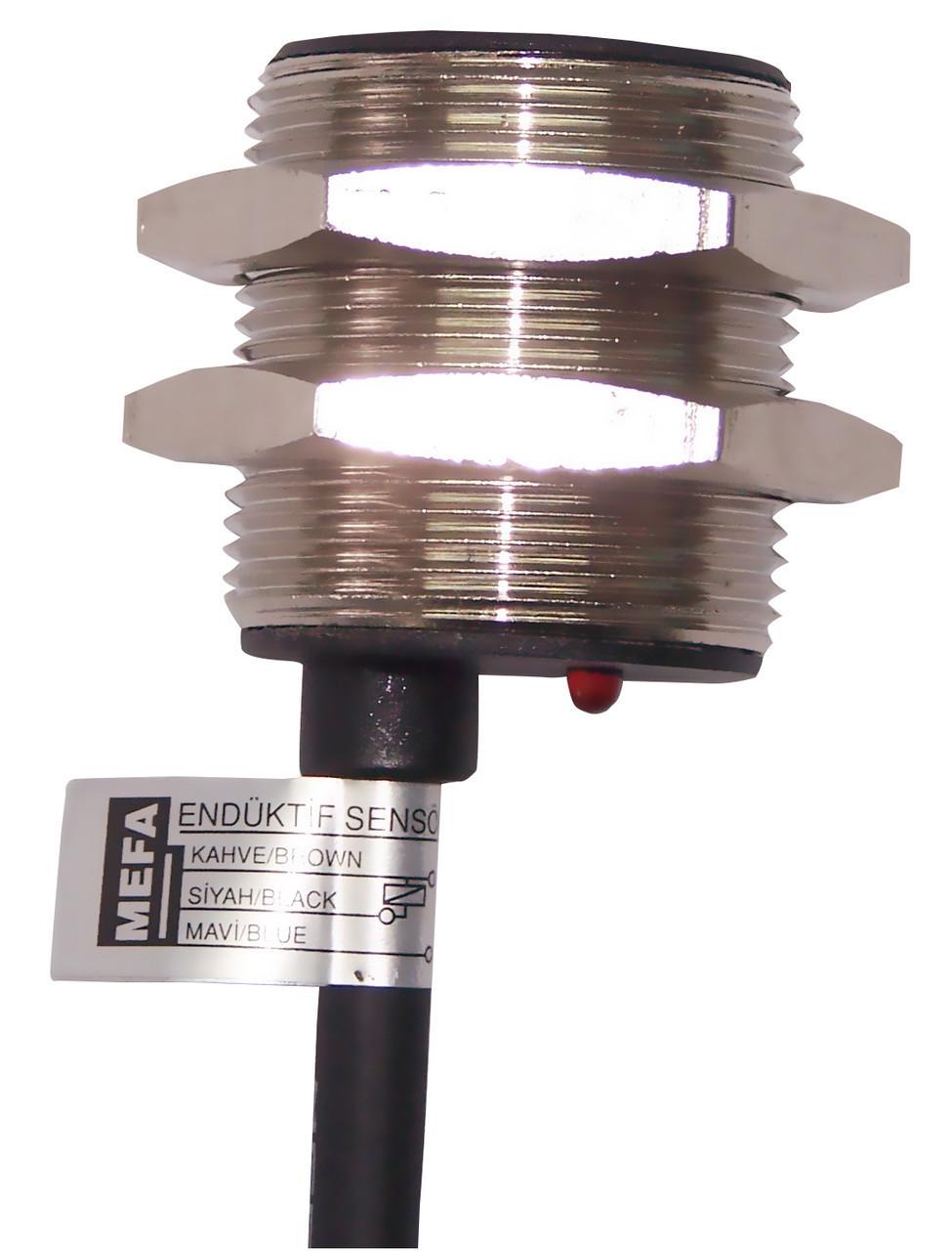 Индуктивный датчик промышленного типа, металлический, 3/4-х проводный, размер корпуса М30х1