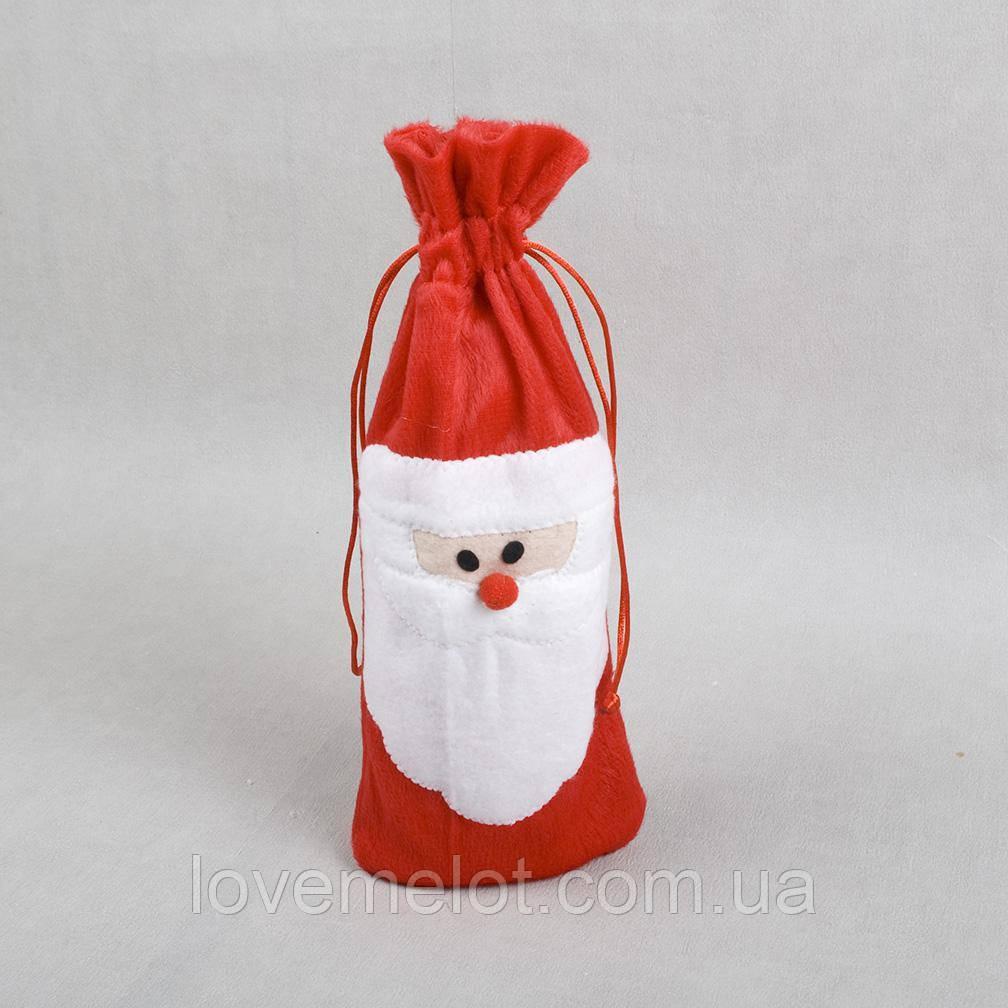 Новогодний аксессуар - подарок упаковка-мешочек