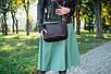 Женская кожаная сумка 21 шоколадный флотар 01210106, фото 6