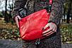 Женская кожаная сумка 21 красный флотар 01210107, фото 4