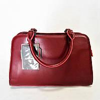 Классическая женская кожаная сумочка  GАLАNTY бордового цвета замша OOR-704412, фото 1