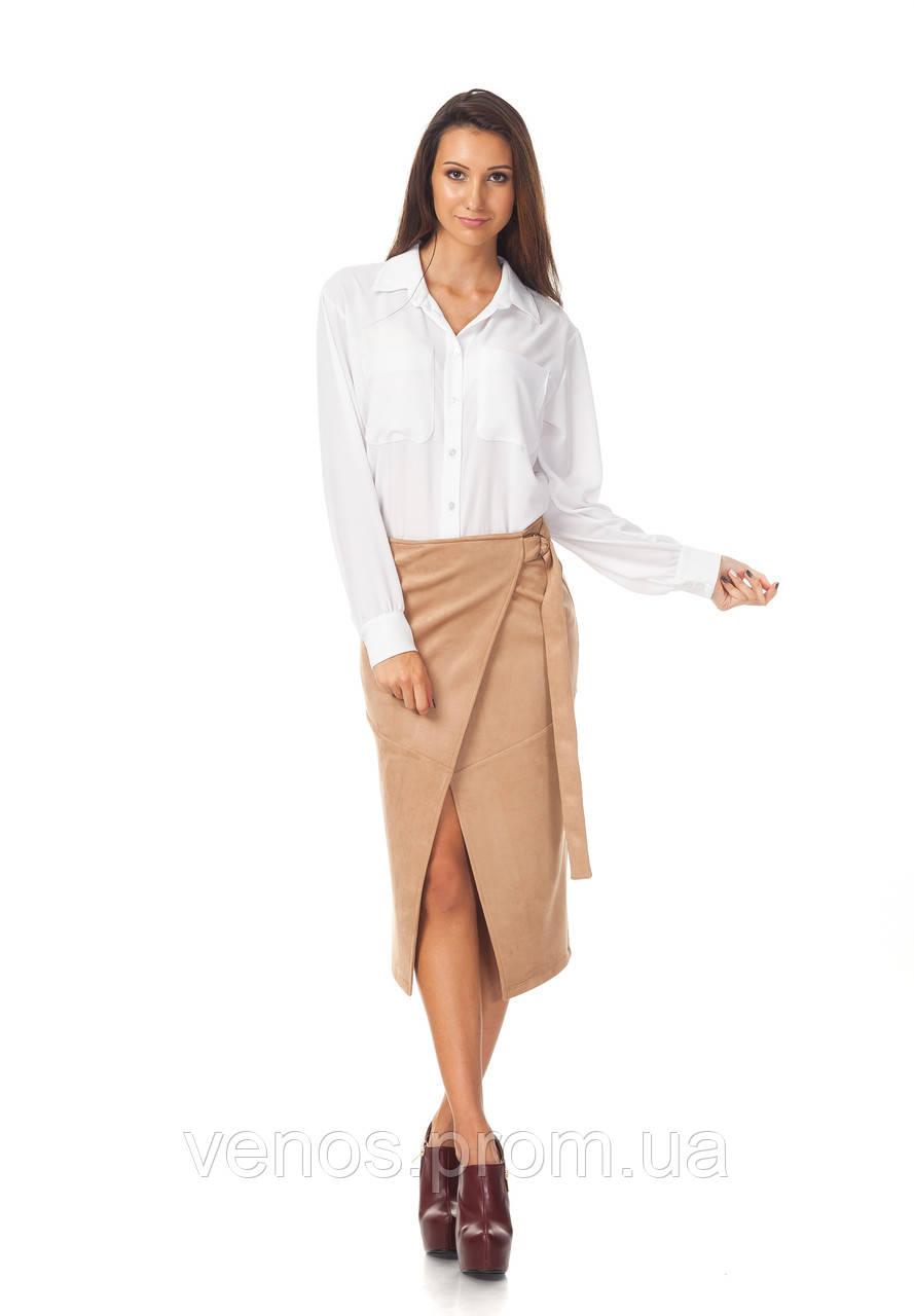 Стильная женская юбка взапах. Ю098