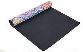 Коврик для йоги Замшевый каучуковый двухслойный 3мм Record FI-5662-18, фото 2