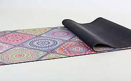 Коврик для йоги Замшевый каучуковый двухслойный 3мм Record FI-5662-18, фото 3