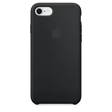 Чехол для Apple Silicone Case (18) iPhone 7/8 Black, фото 2