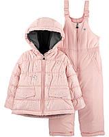 Детский зимний термо костюм- полукомбинезон и куртка OshKosh B'gosh для девочки