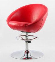 Кресло визажиста, стилиста, парикмахера, барный стул Marbino Hoker Sancafe (красное).