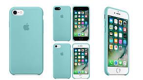 Чехол для Apple Silicone Case (24) iPhone 7/8 Sea blue, фото 2