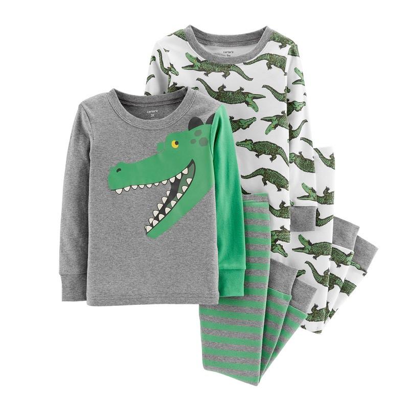 Комплект хб пижам Картерс Крокодил