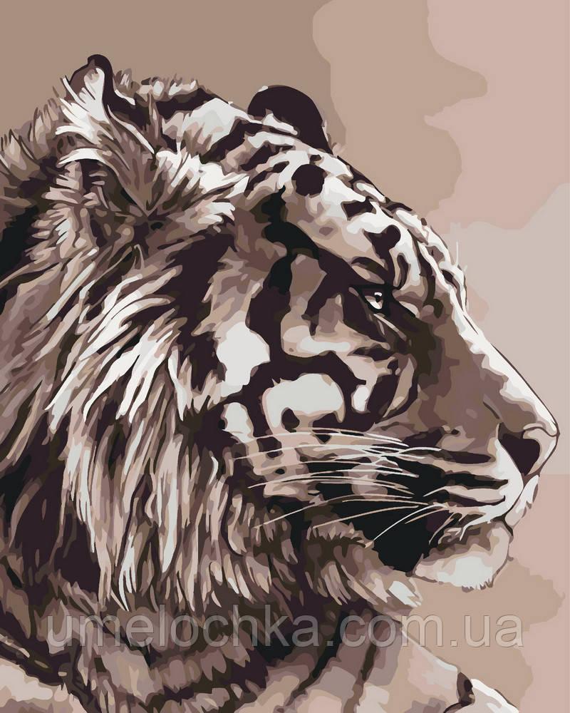 Картина по номерам Амурский тигр 40 х 50 см (KHO2496)