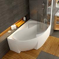 Ванна акриловая Ravak Rosa II 170х105 правосторонняя Ванна + опора + панель + сифон (хром) + штора для ванны VSK2  ROSA II белая + держатель для шторы