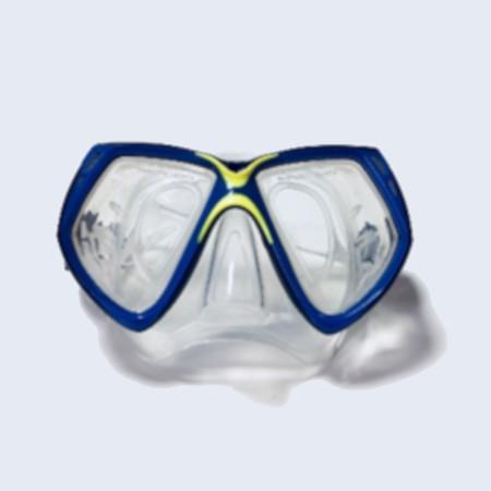 Маска для плавания Loyol М-2529S-2 сине-желтая