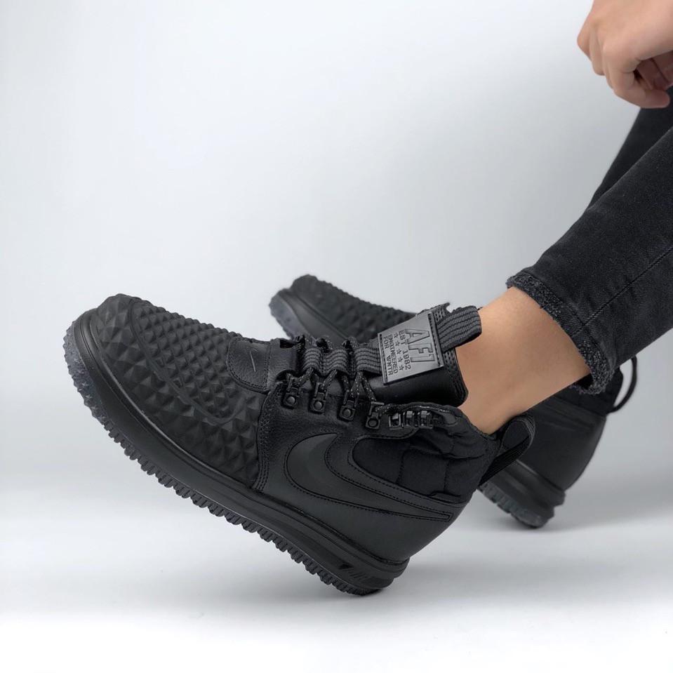 9b2a8f13 Nike Lunar Force 2 Duckboot Black | ботинки-кроссовки женские и мужские;  высокие;