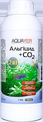 Проти водоростей, Альгіцид+СО2 1л. Добрива для рослин, препарат для рослин, AQUAYER в аквари