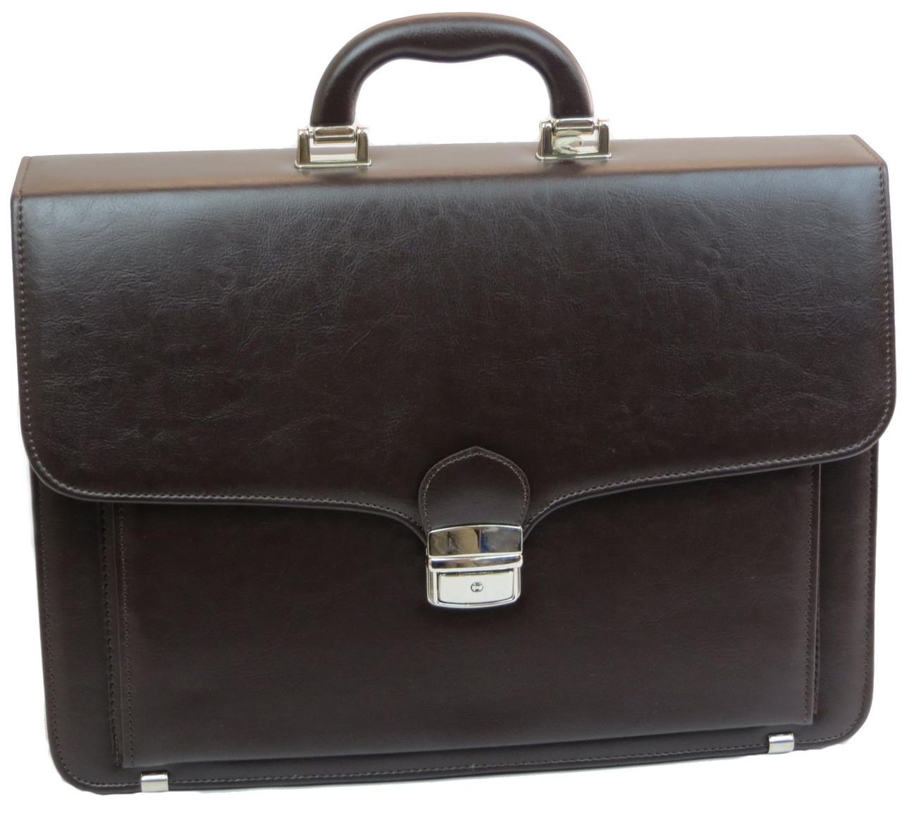 Портфель зі штучної шкіри AMO Польща SST07 коричневий