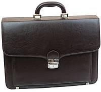 Портфель зі штучної шкіри AMO Польща SST07 коричневий, фото 1