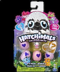 Набор Hatchimals из четырех коллекционных фигурок в яйцах + бонусная фигурка Хетчималс TOY028
