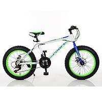 """PROFI Велосипед Profi 20"""" EB20POWER 1.0 S20.3 White-Blue-Lime Green (EB20POWER 1.0), фото 1"""