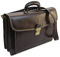 Портфель мужской из натуральной кожи TOMSKOR, Польша 81570 коричневый