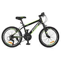 "PROFI Велосипед Profi 20"" G20FIFA A20.2 Black-Green (G20FIFA), фото 1"