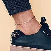 Золотой женский браслет на ногу б01722