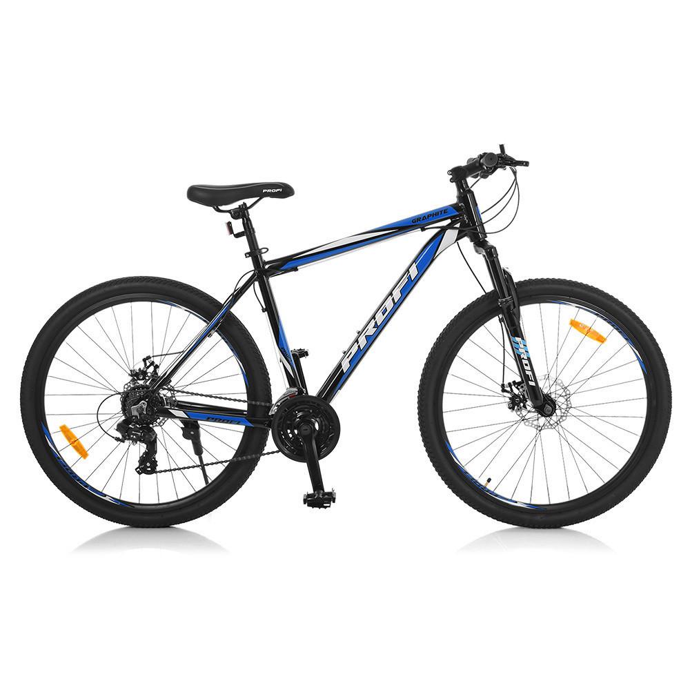 "PROFI Велосипед Profi 27,5"" G275GRAPHITE A275.1 Black-Blue (G275GRAPHITE)"