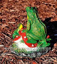 Садовая фигура Лягушки на грибе, фото 3
