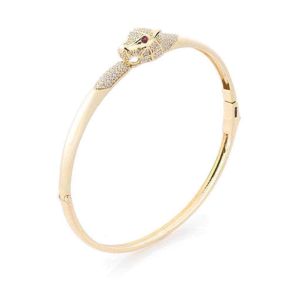 """Золотий браслет """"Пантера"""" (фіаніти) гб03480"""