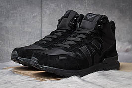 Зимние кроссовки  на меху Armani Jeans, черные (30481) размеры в наличии ► [  42 45  ]