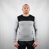 Мужской джемпер серого цвета, фото 2