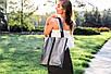 Женская сумка кожаная 27 никель/наплак 012701-0312-01, фото 2