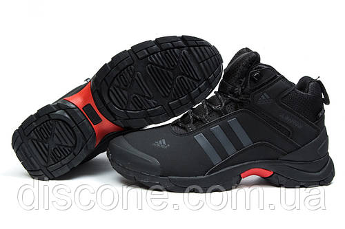 Зимние ботинки на меху Adidas Climaproof, черные (30505), р. (нет на складе)