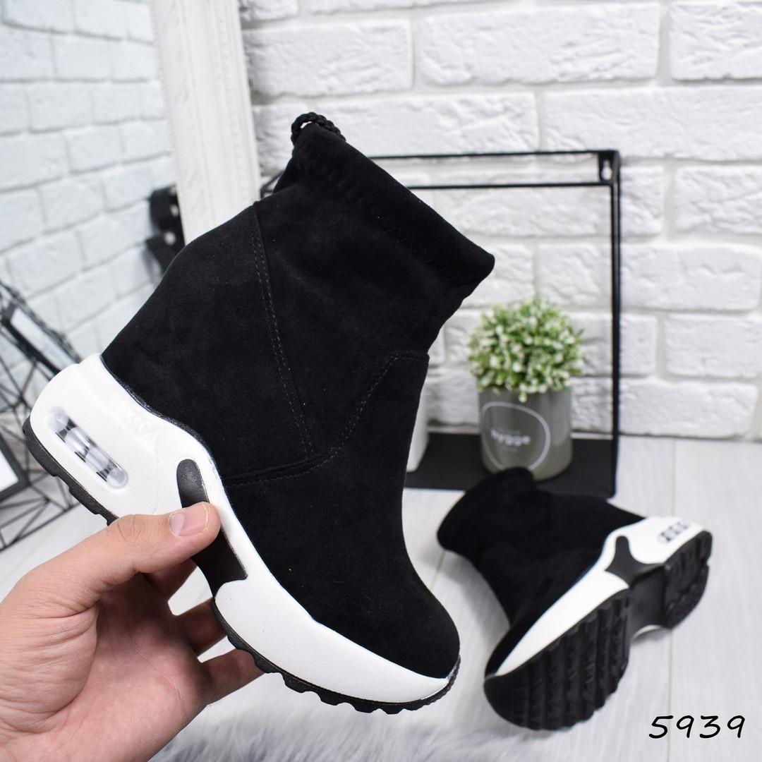 514cc824f Сникерсы женские ElContro черные , женская обувь - Интернет-магазин