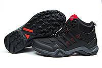 Зимние ботинки на меху Adidas Terrex Gore Tex, черные (30514), р.  [  43 44  ]