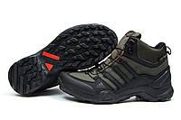 Зимние ботинки на меху Adidas Terrex Gore Tex, хаки (30515), р.  [  43 (последняя пара)  ]