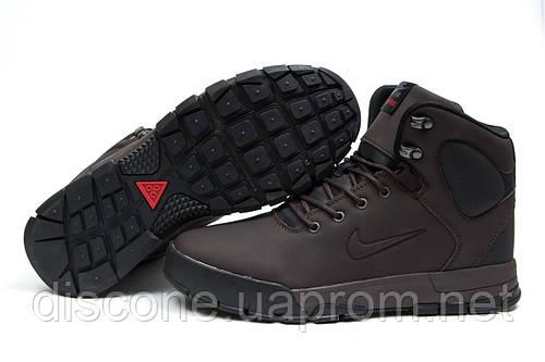 Зимние ботинки на меху Nike LunRidge, коричневые (30522), р.  [  41 42 43 44 45  ]
